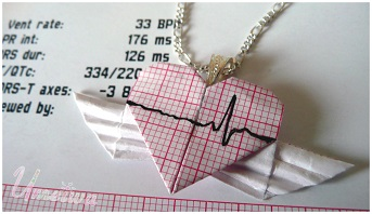 Angelic Heartbeat EKG Necklace by Umeiwa